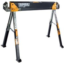 TOUGHBUILT Sawhorse Jobsite Table Saw Horse Heavy Duty Steel Adjustable Folding