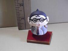 "#A334 Unknown Anime 1.75""in Professor Looking Figure w/Hair Lip Mini Figure"