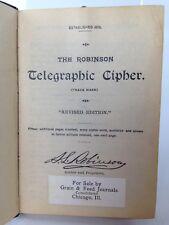 Robinson Telegraphic Cipher 1872 Revised Edition 1925 Grain Dealers Book Antique