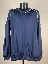 Men's FootJoy Navy Blue Nylon Golf Pullover Windbreaker Jacket XL