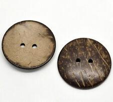 5 Stück Knopf Knöpfe Kokos Kokosnuss 38 mm 3,8 cm Tracht Puppe Hemd Jacke Poncho