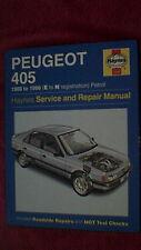 Haynes Service & Repairs Manual - Peugeot 405  1988 - 1996  Petrol  1996 Edition