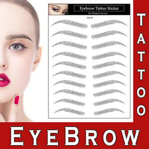 Eyebrows Tattoo Realistic Look Sticker Transfer Waterproof Stick On Make up