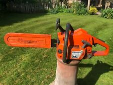 "Husqvarna 36 chainsaw with 14"" bar and scabbard - recently serviced"