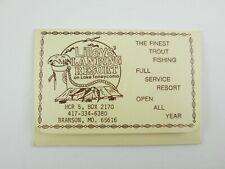 Fishing License Protector Advertising Lilley's Landing Resort Lake Taneycomo #2