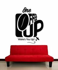 Wall Stickers Vinyl Decal Coffee Cup One Who Wake You Up For KItchen (z1771)