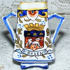 Faience   Rouen   Miniature   Vase   Signed   On  The  Base   Height  3.1/4
