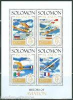 SOLOMON ISLANDS 2014 HISTORY OF AVIATION  SHEET MINT NH