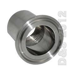 """3/4"""" DN20 Sanitary Female Threaded Ferrule Pipe Fitting Tri Clamp Type SS316"""