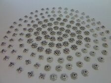 150 pce Petite Antique Silver Metal Bead Caps Style Mix 8mm to 9mm