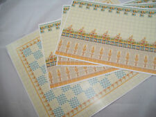 Tile Wall & Flooring Set covers 1 dollhouse room #34485  1/12 scale miniature