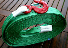 4x4 RECOVERY TOW ROPE/TOWING STRAP 10M TREE STROP TON PRO HEAVY DUTY HOOK