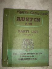 Austin A40 Service Parts List Fecha mayo 1959