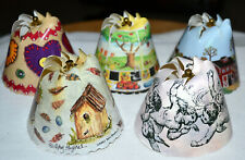 5  VINTAGE SPIN SHADES Revolving Tree Lamp Shades CUPID, FARM SCENE, BIRD HOUSE