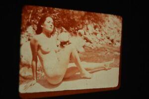 Vintage 9 Nude Slides Pin-up MCM Women William H. Door Hollywood CA Original
