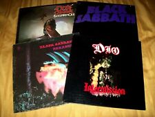 4 METAL LP LOT BLACK SABBATH DIO OZZY OSBOURNE Paranoid Master Of Reality BLIZRD