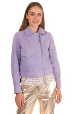 RRP €815 7 FOR ALL MANKIND Suede Leather Biker Jacket Size M Made in Italy