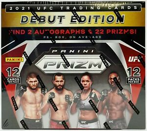 2021 Panini Prizm UFC trading cards Hobby Box, BRAND NEW. 2 AUTOS AND 22 PRIZMS!