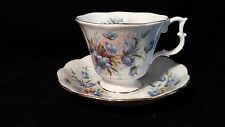 Royal Albert Blue Bell Flowers  Footed Cup and Saucer