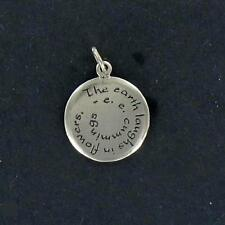 """Sterling Silver """"The Earth laughs .....""""  CHARM"""