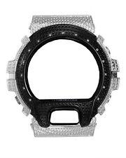 Casio G-Shock DW-6900 B&W Stainless steel Bezel Cover Watch 14 DIAMOND stone