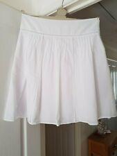 Fab Marks & Spencer White Calf Length Skirt, Wide Waistband, Size 14, VGC