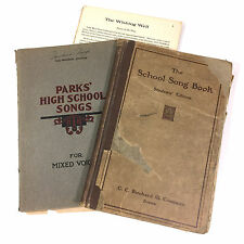 Antique Bound Sheet Music Lot: Wishing Well Dodge, 2 Mixed Voice Books 1909 1915