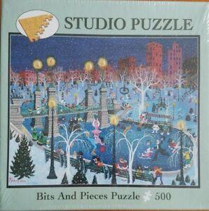 Bits & Pieces 2004 Winter Wonderland Studio Jigsaw Puzzle Kemon Sermos 500pc New