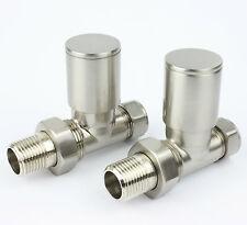 Sigma designer brossé radiateur porte-serviettes radiateur vannes Valve Droite paire **