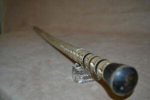 Antique Shark Vertebra Cane Walking Stick Horn Top and Accents
