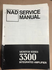 NAD 3300 Integrated Amplifier Service Manual *Original*