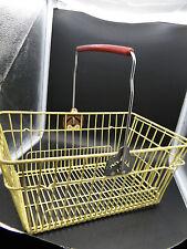 Ancien panier de magasin vintage en métal plastifié type Prisunic
