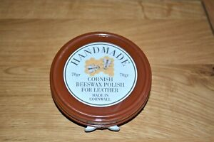 Cornish Beeswax Polish for Leather. No Chemicals, Handmade in Cornwall. 70gr.