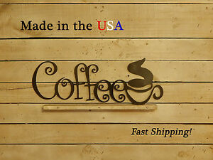 Coffee Sign-Coffee Bar Decor-Kitchen Decor-Cafe Decor-Vintage Art-Coffee-S1024