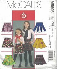 McCall's M5696 Child's Ruffle Pleated Skirt Sewing Pattern Size 7-8-10-12-14