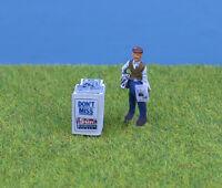 OO/HO gauge Painted Newspaper Stand & Seller - P&D Marsh PDZ42 free post F1