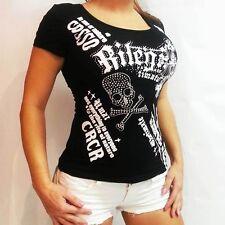 Totenkopf Shirt Deathead Skull Top Punky style Biker Gothic