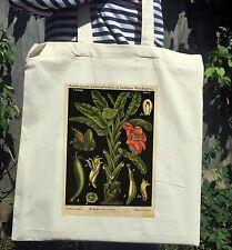 Vintage Victorian Botanical Illustration Print White Cotton Tote Bag No.2
