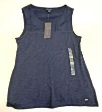 Tommy Hilfiger Womens Top Navy Blue Small