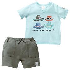 NWT Target Baby Boys Hat T-Shirt Top Khaki Shorts Summer Set Size 00 or 0 or 1
