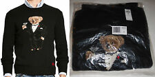 new Polo Ralph Lauren Tuxedo Martini Teddy Bear wool sweater, mens, M, MSRP $395