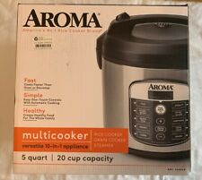 Digital Multi Cooker & Rice Cooker - Aroma, 20 Cup - Stainless Steel - New
