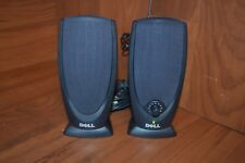 Pair DELL A215 Computer Stereo Speakers + AC Adapter Multimedia Set Wired