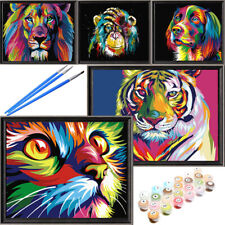 Animal Oil Acrylic painting kits on Canvas by Numbers for kids Adults Beginners