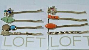 Ann Taylor LOFT Womens Enamel Stone Bobby Pins NWT 14.50 each Set of 2 B C