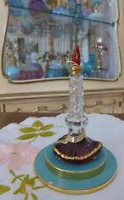 VTG 1940s SLEEPING DE SCHIAPARELLI Perfume 0.50 Oz Candle w Blue Box Base RARE!