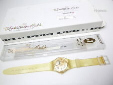 """Swatch: Club-Special Number 1 """" Golden Jelly """" (GZ115) with Kartonbox New/Rarity"""