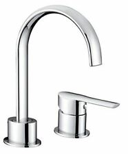 Mikura 2-hole Bath filler Tap Mixer, high curved spout and single handle Chrome