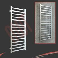 "500mm(w) x 1165mm(h) ""Denbigh"" Chrome Heated Towel Rail Radiator 1353 BTUs"