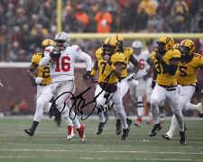 JT Barrett Ohio State Buckeyes QB Football Signed 8X10 Photo Rp OH-IO J.T.